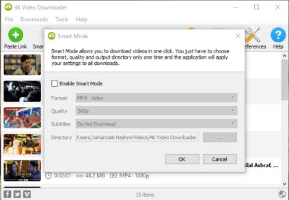 4K Video Downloader Mac Screenshot