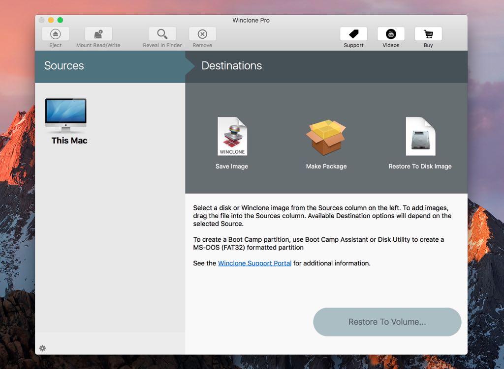 Winclone Pro Screenshot