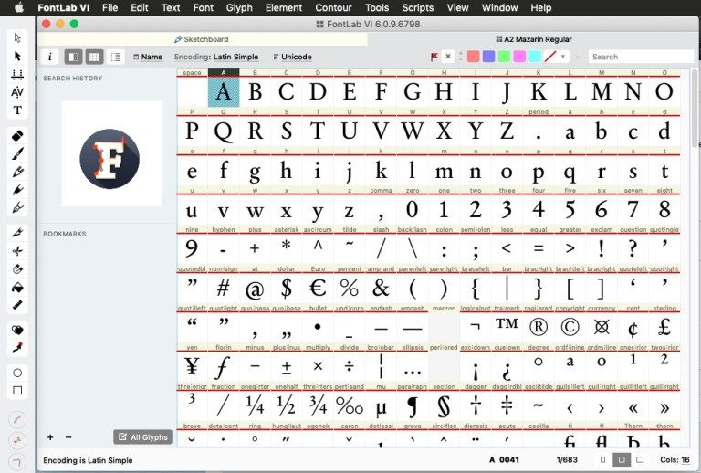FontLab Screenshot