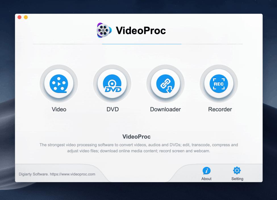 VideoProc Screenshot